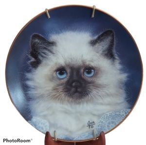 Cat Plate - Hamilton Collection Lady Blue Cameo